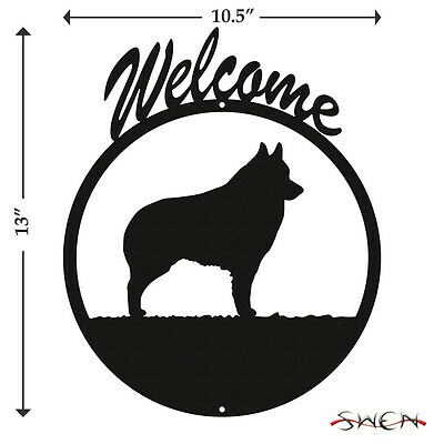 Schipperker Black Metal Welcome Sign *NEW*