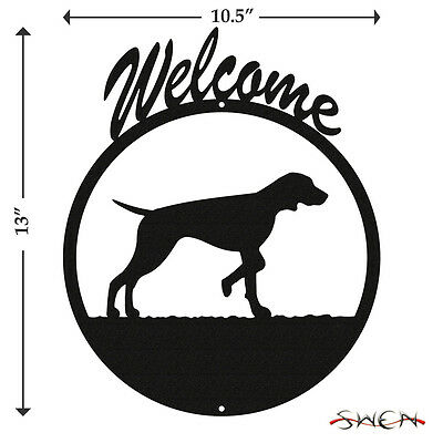 Vizsla Dog Black Metal Welcome Sign *NEW*