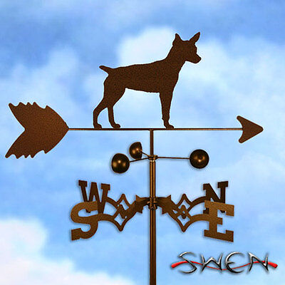 Hand Made Rat Terrier Dog Weathervane *NEW*