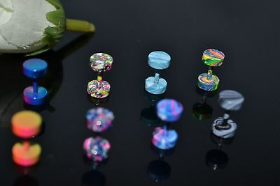 Anodized Fake Ear Tunnel,Illussion Cheater Plug,Stretchers,Look Like 2g~6mm