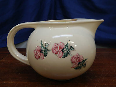 "Universal China Ballerina Rose Pattern Pitcher 6""; Thermocraft; Oven-proof"
