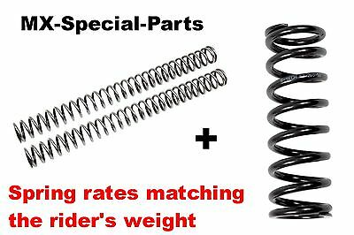 KTM 85 SX SX85 # FORK SPRINGS + SHOCK SPRING with matching SPRING RATE -> select