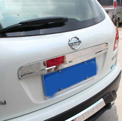 For Nissan Qashqai Dualis Rear Tailgate Cargo Trunk Handle Chrome Trim Cover