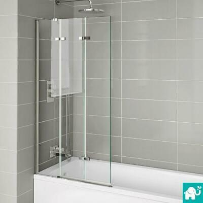 800mm Folding Bath Shower Screen Luxury Modern Easy Clean Glass Bathroom Panel