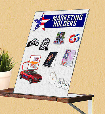 "8.5""W x 11""H Slant Back Ad Literature Frame Expos Table Sign Holder"