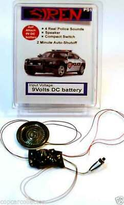 4 Tone Siren For Model Police Cars - Great Addition To Your Next Custom Cruiser!