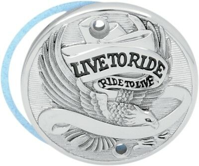 Chrome Live to Ride Points Cover for 1971-2003 Harley Sportster XL 30-0152DA