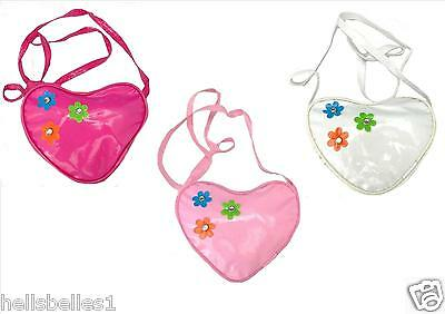 Girl's Heart Shaped Long Strapped Bag/purse Ideal Stocking Filler/party Bag