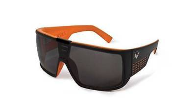 Dragon Domo 720 1898 Matte Black & Orange With Grey Large Shield Sunglasses