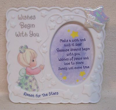 """Precious Moments 1998 Picture Frame """"Reach For The Stars"""""""