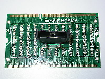 New Laptop Notebook Memory DDR3 Test Card SO-UDIMM 204-Pin Out LED Light Tester