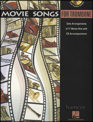 Movie Songs for Trombone Sheet Music Book with Play-Along CD 11 Film Hits