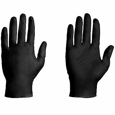 10 Pack Black Latex Free Tattoo Medical Mechanic Gloves - S, M, L , Xl