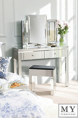 Luxury Mirrored Dressing Console / Table - 4 Legs