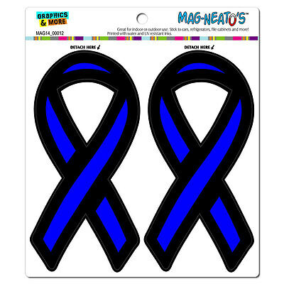 The Thin Blue Line Ribbon Support Ribbon - Police - MAG-NEATO'S™ Car Magnet Set