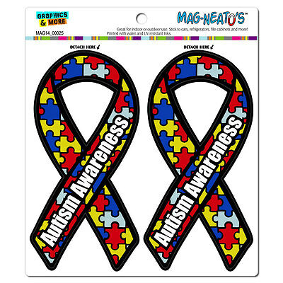 Autism Awareness Support Ribbon - MAG-NEATO'S™ Car Refrigerator Vinyl Magnet Set
