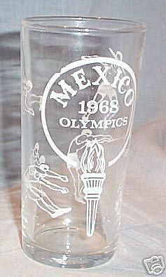 1968 Mexico Olympic Games Souvenir Glass