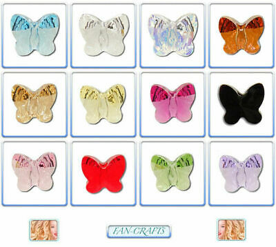 5754 Swarovski® Butterfly Beads 8mm 5pcs or 15pcs Mixed Colours