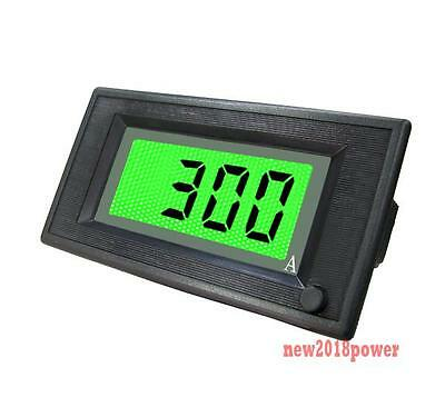 ON/OFF DC 0-300A Green Lcd Digital  Ammeter Current Panel Amp Meter Power 6-24V