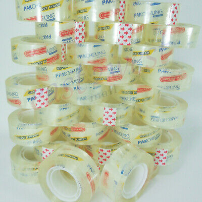 "20 Rolls Transparent Crystal Clear Tape 3/4""x1000""  Dispenser Refill 1"" Core NEW"
