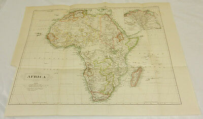 """1875 Antique COLOR Map/AFRICA/Large 15x18"""""""
