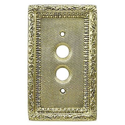 Victorian Single Gang Push Button Switch Plate Cover (L-W7)