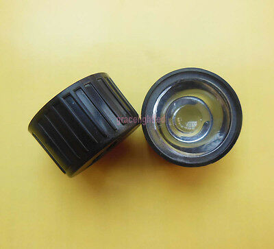 50pcs 120 degrees led Lens Reflector for 1W 3W 5W Hight Power LED with holder