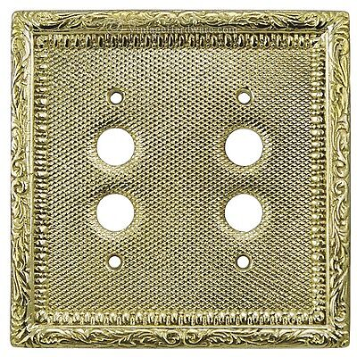 Victorian Recreated Double Push Button Switch Plate Cover (L-W12)