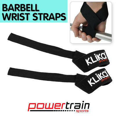 NEW PAIR 40cm WEIGHT LIFTING HOME GYM BARBELL DUMBBELL WRIST STRAP SUPPORT WRAPS