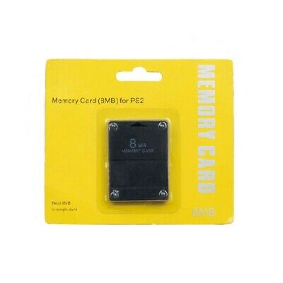 Memory card for PS2 8MB Sony PlayStation 2 slim console retail packed black