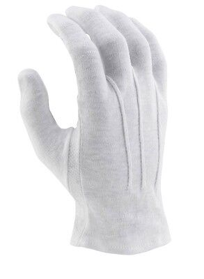 Director's Showcase White Cotton Sure Grip Marching Band Parade Gloves