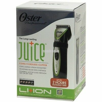 OSTER JUICE Li+Ion CORD CORDLESS PROFESSIONAL Adjustable HAIR CLIPPER 76110-010