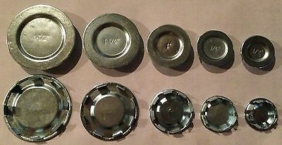 "(100 pc lot) Steel Knockout KO Seal Hole Covers 1/2"" - New in Box"