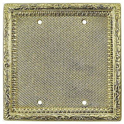Blank Switch Plate Covers for Two Gang Box Antique Victorian Style (L-W10)