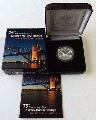 2007 $1 75Th Anv Of The Sydney Harbour Bridge Silver Proof Coin
