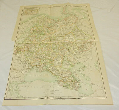 1887 Antique COLOR Map/ RUSSIA /Large Size 13x19""