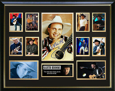 Garth Brooks Framed Memorabilia