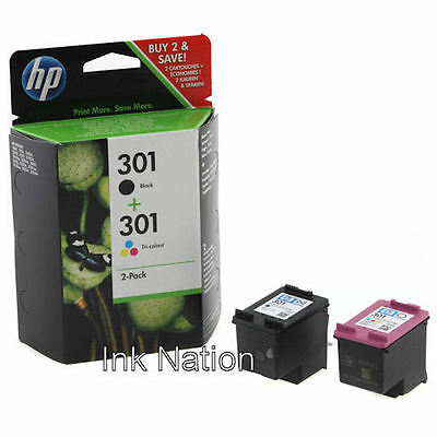 Original Genuine HP 301 Black & 301 Colour Ink Cartridge For ENVY 5532 Printer