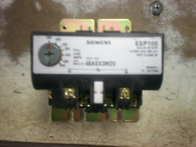 New out of Box Siemens - ESP100 Overload Relay - 200 540amps - 48ASX3M20