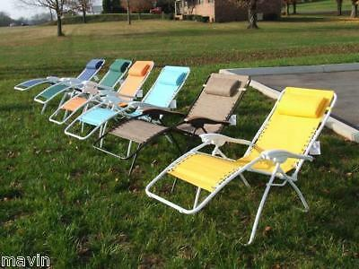 Lounge Chair Zero Gravity with Your Choice of 3 Colors