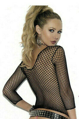 Elegant Moments 1480 Women Cami Club Top Fishnet Shirt Reg or Plus Queen Black