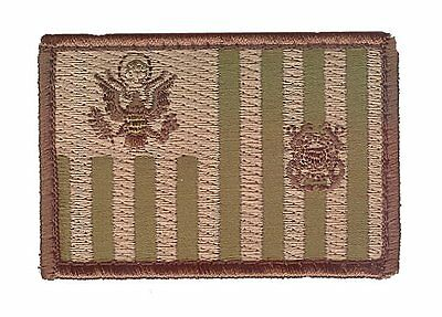 "Ensign flag 3""x2"" woodland small sharp W5383 USCG Coast Guard patch"