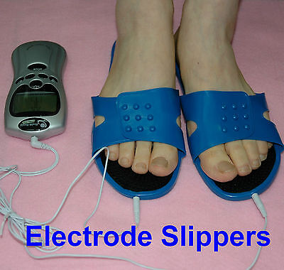 Foot Relax Massager Electrode Slippers Pads Tens Machine Shoe Pain Relief Reuse