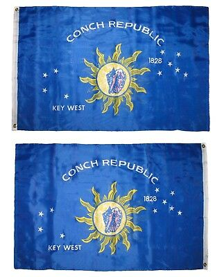 3x5 Florida Key West Conch Republic 2-ply polyester Double Sided Flag 2 faced