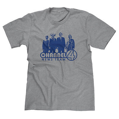 c3e6a738 Channel 4 News Team Assemble Ron Funny Anchorman Panther Burgundy T-Shirt  Tee