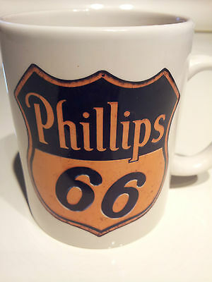 Phillips 66 MOTOR OIL GAS Vintage rusty real sign COFFEE MUG