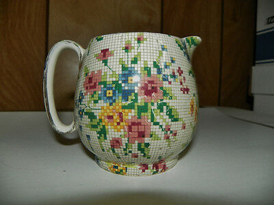 ROYAL WINTON OLD MARKED QUEEN ANNE GLOBE SHAPED CREAM PITCHER
