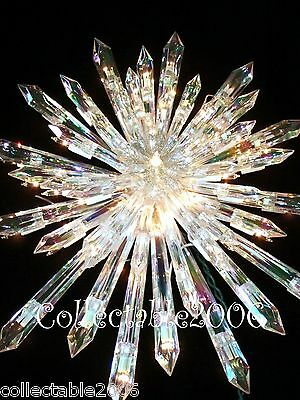 New CHRISTMAS GIANT PRELIT CRYSTAL TREE TOPPER  STAR STUNNING