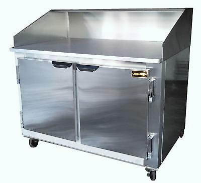 """48"""" New US-Made Two (2) door Refrigerated Dough Retarader pizza prep table"""