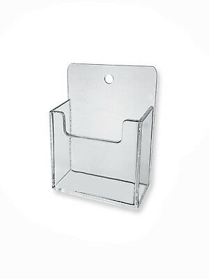 Clear Plastic Wall Mount Vertical Business Card Holder Display Hanging Acrylic